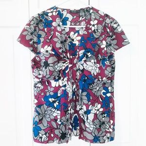 Nicolel  by Nicole Miller Floral Top Size 12